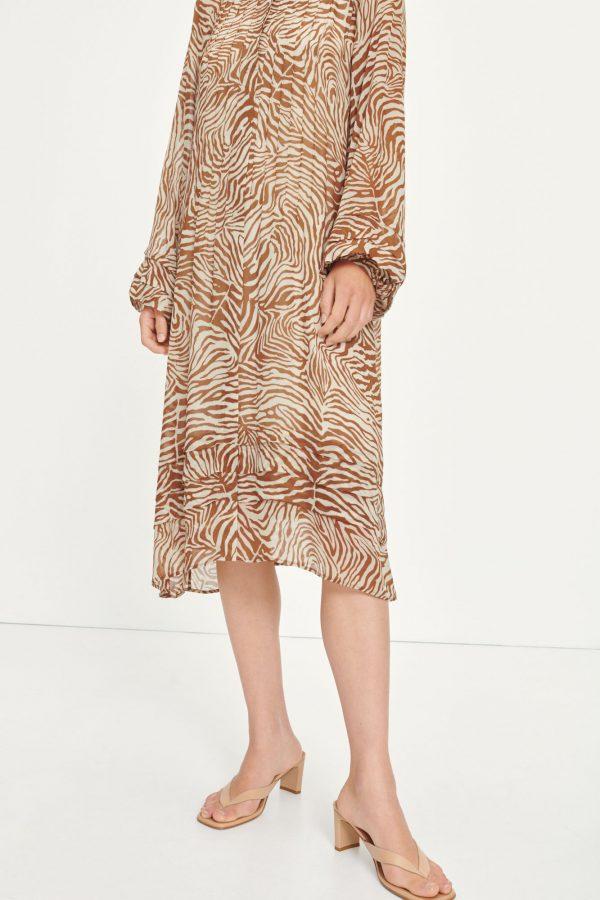 Samsoe & Samsoe Elma Shirt Dress Mountain Zebra