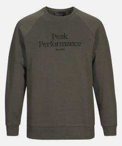 Peak Performace Original Crew Men Black Olive