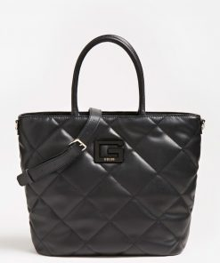 Guess Brightside Quilted Tote Bag Black