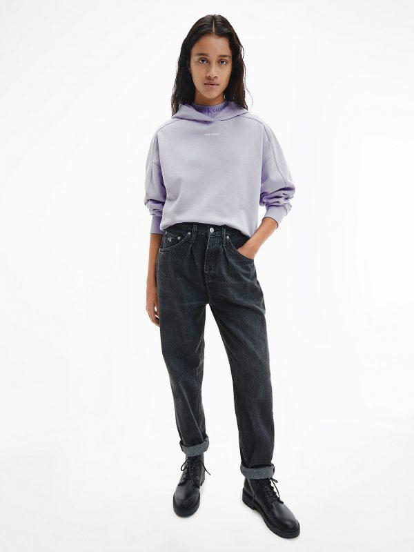 Calvin Klein Micro Branding Hoodie Palma Lilac
