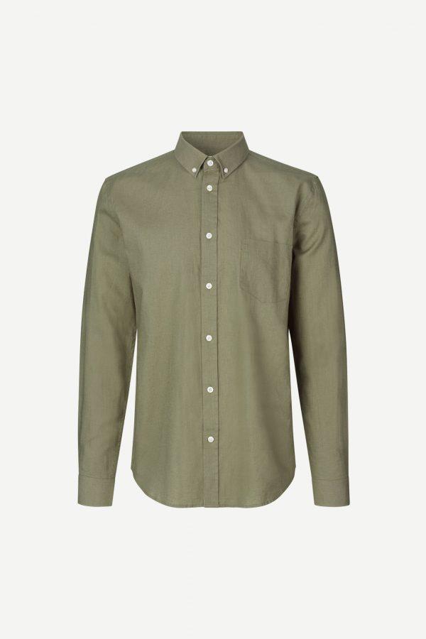 Samsoe & Samsoe Liam Shirt Deep Lichen Green