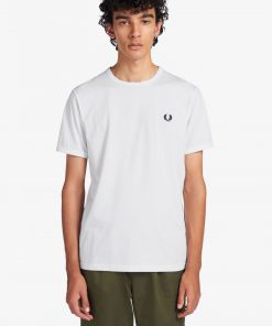 Fred Perry Ringer T-shirt White