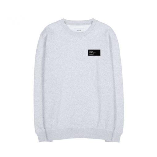 Makia Pontus Light Sweatshirt Light Grey