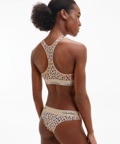Calvin Klein Unlined Bralette Savannah Cheetah