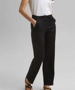 Esprit Linen Joggers Black