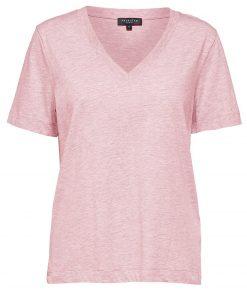 Selected Femme V-neck T-shirt Primrose Pink