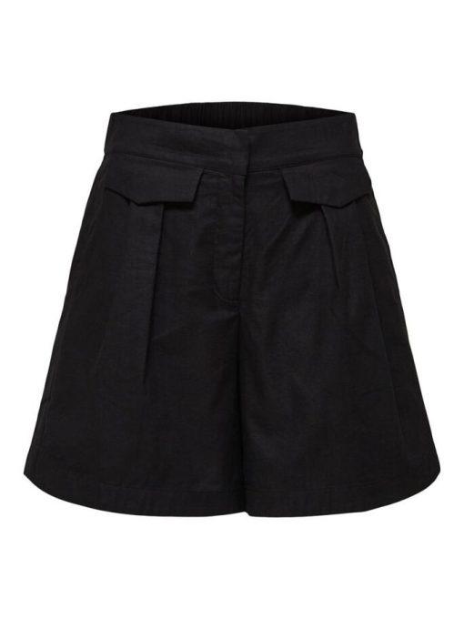 Selected Femme Cecilie Shorts Black