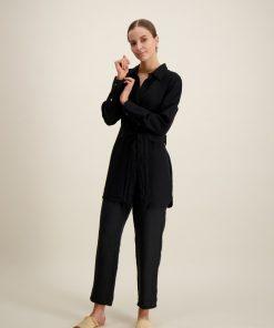 Balmuir Louise Linen Trousers Black