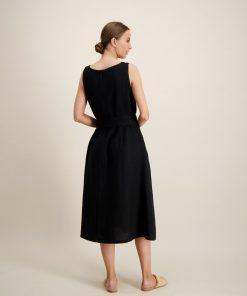 Balmuir layla Linen Dress Black