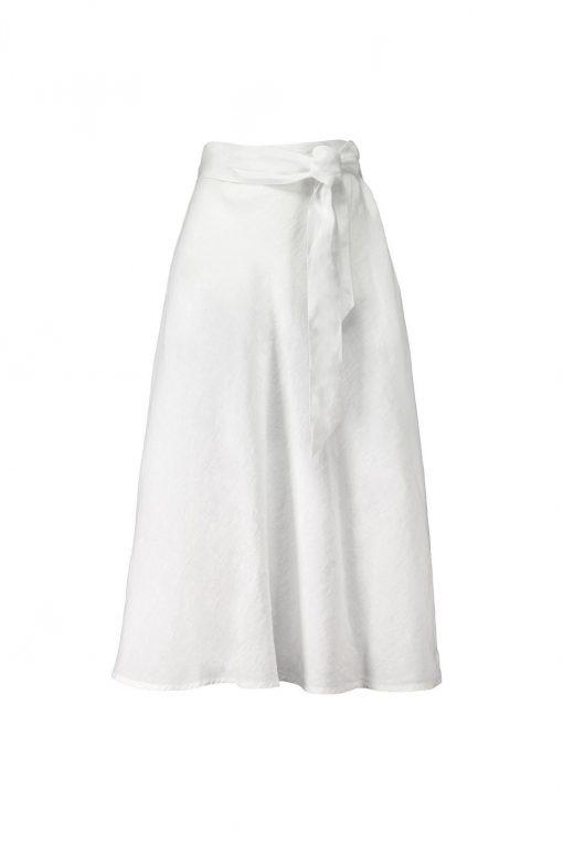 Balmuir Lena Linen Skirt White
