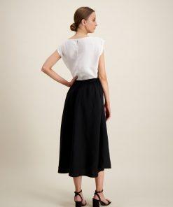 Balmuir Lena Linen Skirt Black