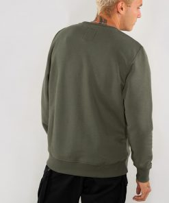 Alpha Industries Basic Sweater Small Logo Dark Olive