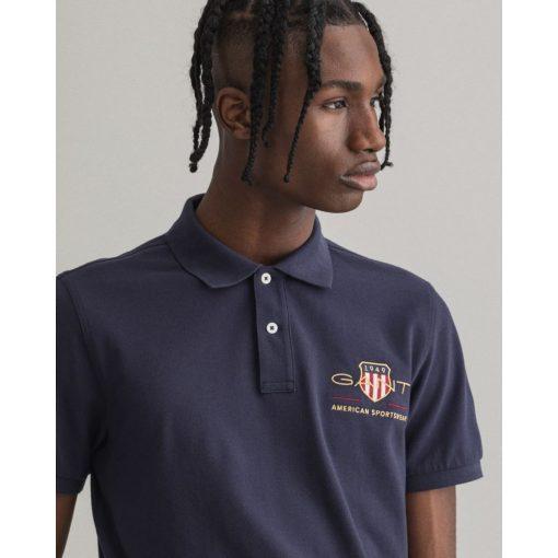 Gant Archive Shield Pique Shirt Evening Blue