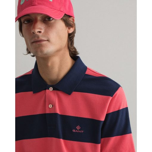 Gant Barstripe Pique ss Rugger Paradise Pink