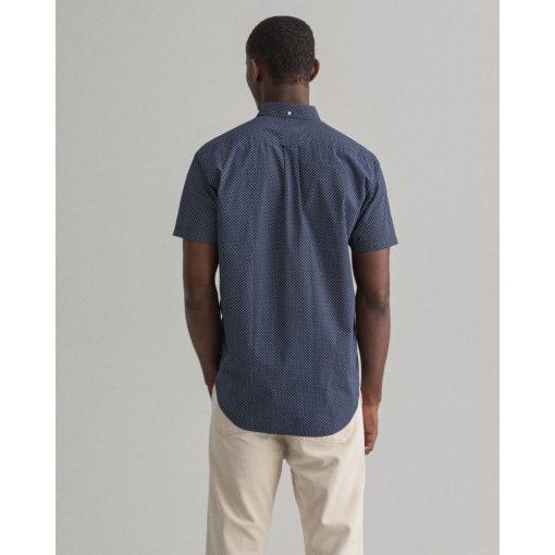 Gant Micro Dot Ss Shirt Classic Blue