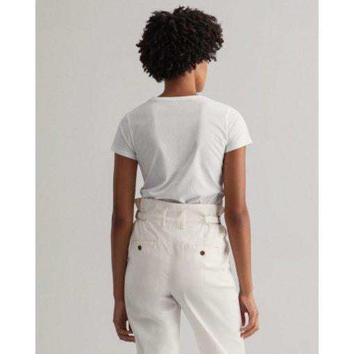 Gant Woman Lock Up T-shirt White