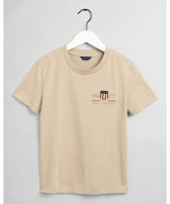 Gant Woman Archive Shield T-shirt Dry Sand