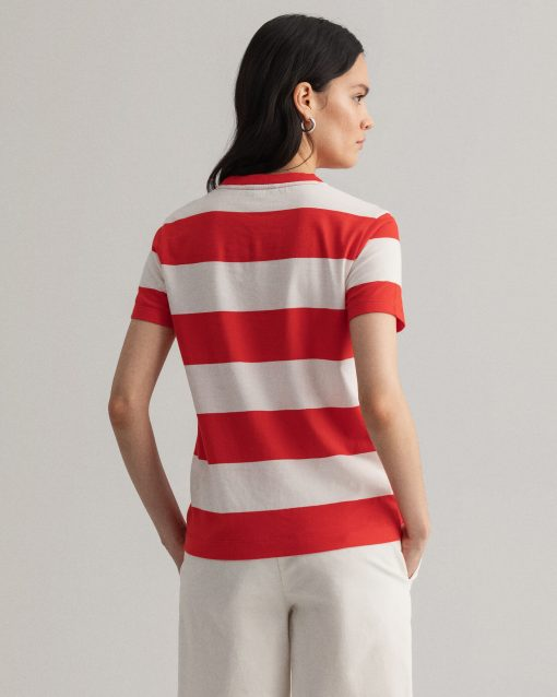 Gant Woman Nautical T-shirt Lava Red