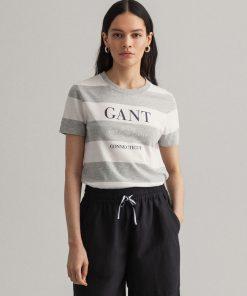 Gant Woman Nautical T-shirt Light Grey Melange