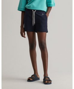 Gant Woman Sweat Shorts Evening Blue