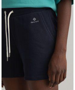 Gant Woman Sweat Shorts Evening Blue
