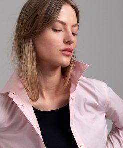 Gant Woman Solid Stretch Shirt Preppy Pink