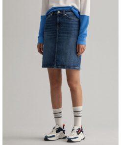 Gant Woman Denim Skirt Mid Blue Vintage