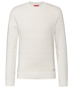 Hugo Boss Sotton Knitwear White