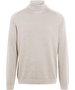 Knowledge Cotton Apparel Field High Neck Sweater Light Feather Gray