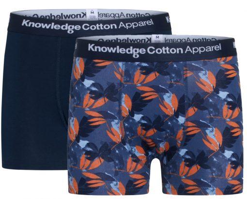 Knowledge Cotton Apparel Maple 2 Pack Underwear Total Eclipse