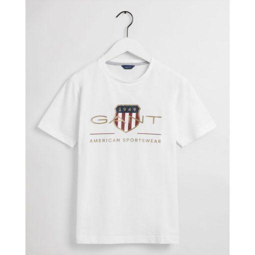 Gant Teens Archive Shield T-Shirt White