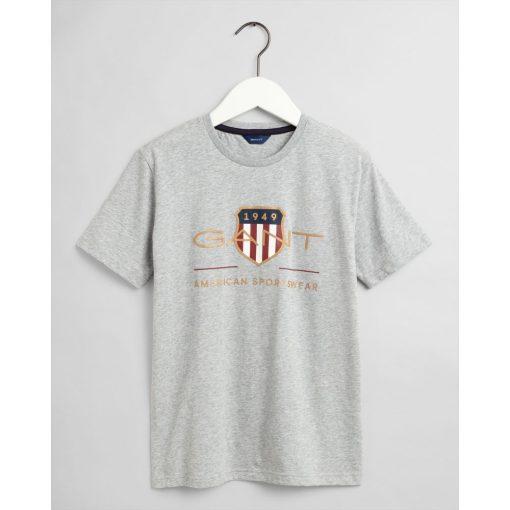 Gant Teens Archive Shield T-Shirt Light Grey Melange
