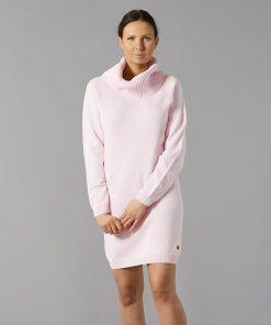Pura Cotton Long Polo Dress Pink