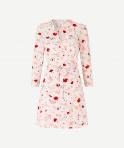 Samsoe & Smasoe Britt Wrap Dress Pink Garden