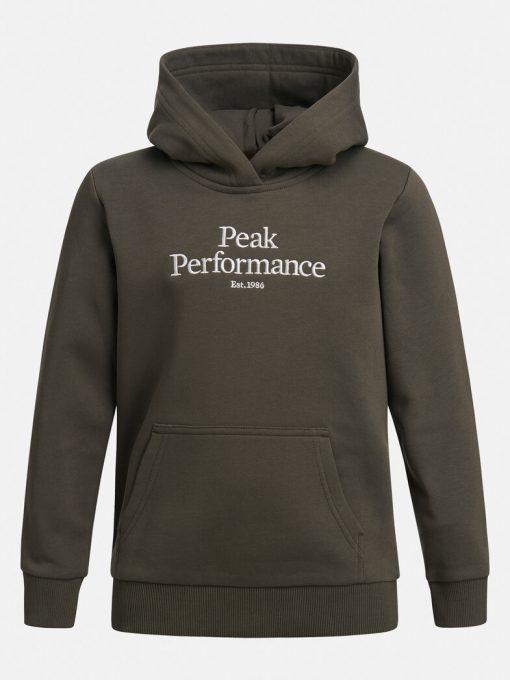 Peak Performance Original Hoodie Junior Black Olive