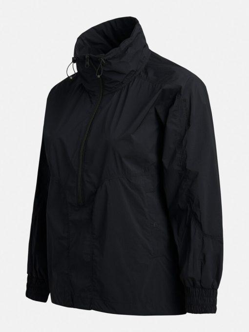 Peak Performance Hit Half Zip Jacket Women Black