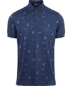 J.Lindeberg Regular fit Polo Shirt Bridge Ocean Blue