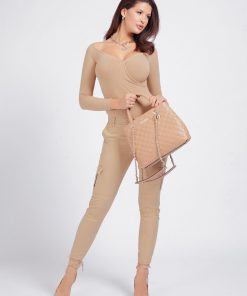 Guess Illy Quilted Handbag Beige