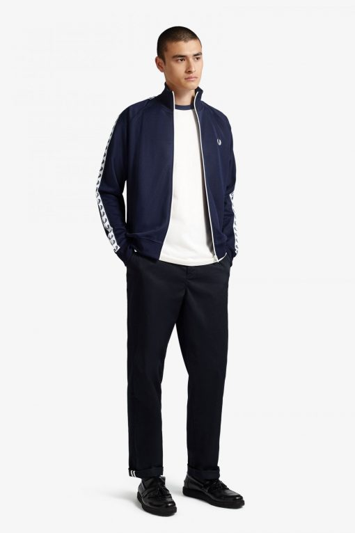 Fred Perry Taped Track Jacket carbon Blue