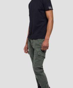 Replay Raw Cut Cotton T-shirt Black