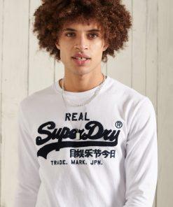 Superdry Vintage Logo Chenille Top Optic White