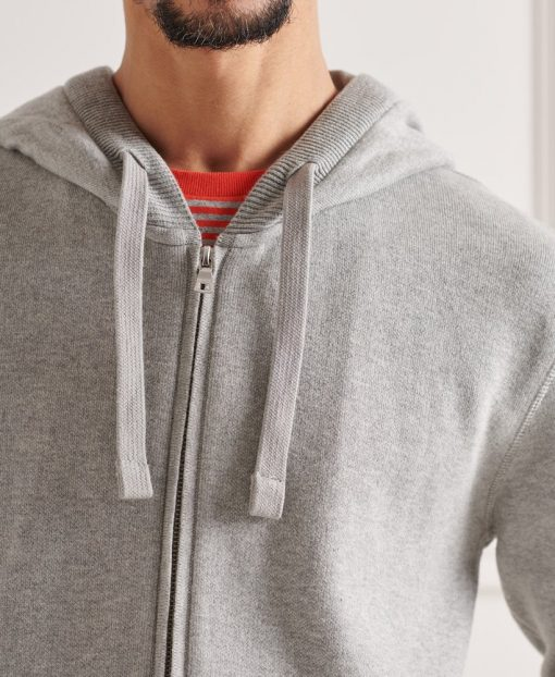 Superdry Essential Cotton Hood Mid Grey