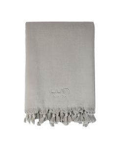 Luin Living Organic Cotton Towel 100 x 180 Granite