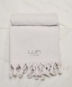 Luin Living Organic Cotton Towel Pearl Grey