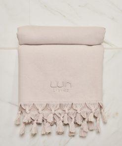 Luin Living Organic Cotton Towel Sand