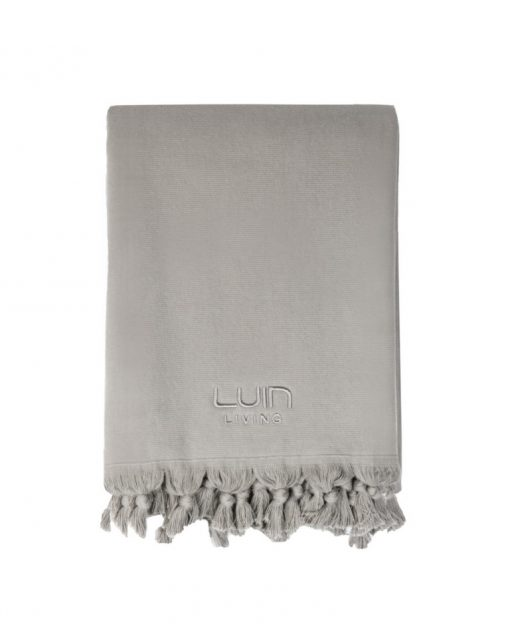 Luin Living Organic Cotton Towel 70 x 140 Granite