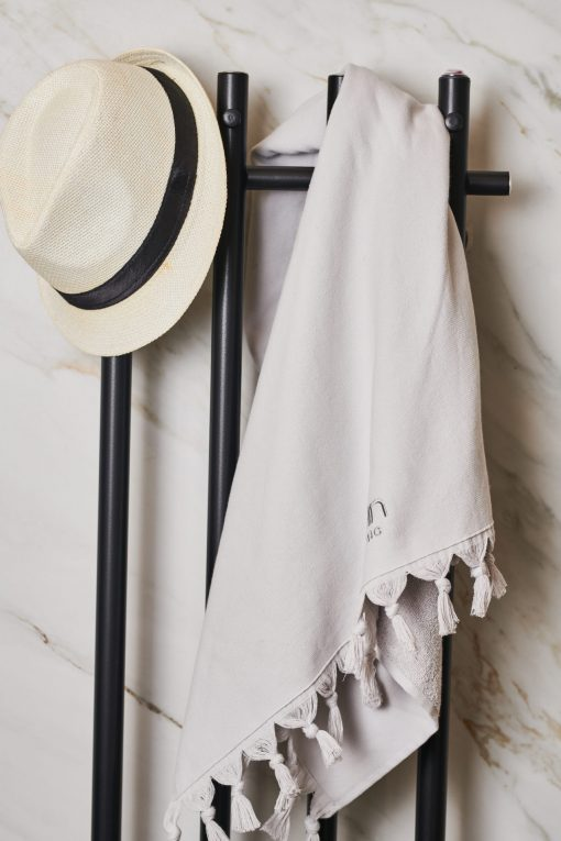 Luin Living Organic Cotton Towel 70 x 140 Pearl Grey
