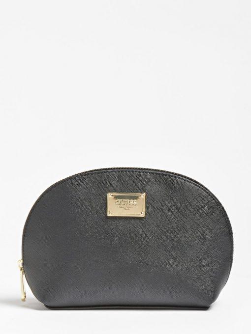 Guess Coreen Saffiano Pattern Pochette Black