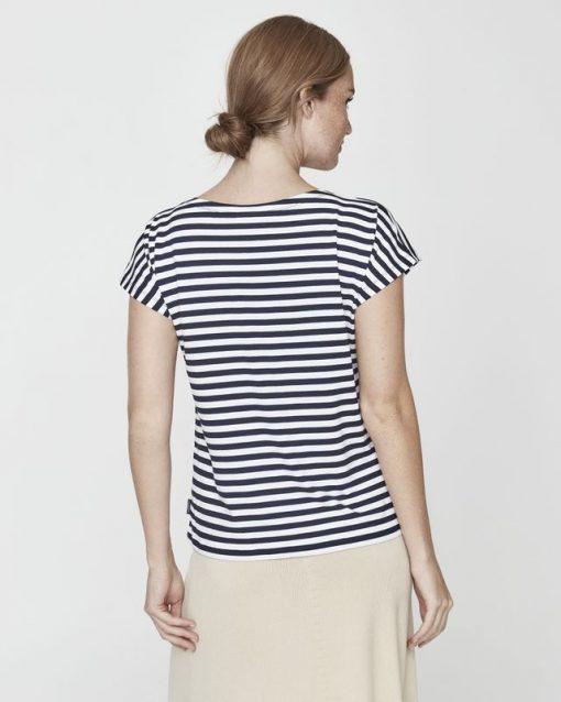 Holebrook Kajsa Capsleeve T-shirt Navy/White