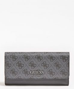 Guess Mika Large Ziparound Wallet Grey